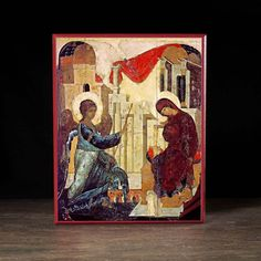 Annunciation, 1405 by Andrei Rublev. Cathedral of the Annunciation (Moscow Kremlin), Moscow, Russia Byzantine Icons, Byzantine Art, Russian Icons, Russian Art, Religious Icons, Religious Art, Andrei Rublev, Arte Latina, Islamic Art