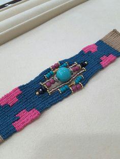 Handmade needle woven bracelet by adorable mine