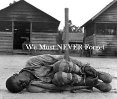 """Many people wonder why Africans and African Americans can't just """"get over this"""". In school, we learned about the Holocaust. We went to hear people speak about their experience, we wrote papers on the Holocaust. We were shown pictures, we read books on it, watched documentaries of it."""