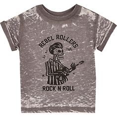 Mini boys grey rock n roll t-shirt £8.00 #riverisland #RIkidswear