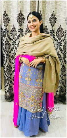 Salwar Suits Party Wear, Punjabi Salwar Suits, Salwar Kameez, Punjabi Fashion, Indian Fashion, Nimrat Khaira Suits, Punjabi Suits Designer Boutique, Punjabi Models, Modern Mehndi Designs