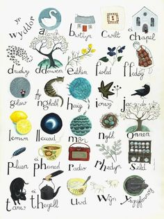 Welsh Alphabet poster . by Valeriane Leblond, a French artist/illustrator now living with her young family in Wales