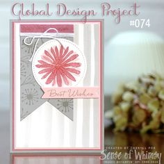 I like the card layout and the gray with the pink