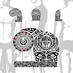 Polynesian Tattoo Meanings - Turtle Shells - Design Sample (From Tattootribes.com)