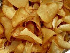 Cómo hacer chips de yuca #recetas #verduras #hortalizas