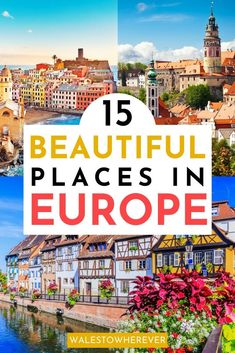 Looking for the most beautiful places in Europe? This list includes 15 of the most colourful towns in Europe that youll Destination Voyage, European Destination, European Travel, Europe Travel Outfits, Europe Travel Guide, Travel Destinations, Backpacking Europe, Eurotrip, Outfits Spring