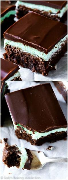Classic Mint Chocolate Brownies - Completely from scratch and completely incredible! by milagros
