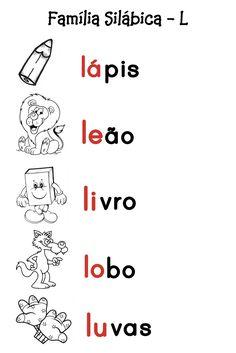 O Mundo da Alfabetização: Silabário - J e L