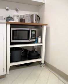 1000 ideas about microwave cart on pinterest microwave for Microwave table ikea