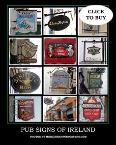 Ireland Pubs, Poster Prints, Posters, Pub Signs, Above And Beyond, Prints For Sale, Fathers Day Gifts, Irish, Fuji Film