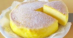 "The Whole World Is Crazy For This ""Japanese Cheesecake"" With Only 3 Ingredients! - Afternoon Recipes<< I have GOT to make this! It's so easy, and delicious! I mean, it's cheesecake! Everything like that is delicious! Food Cakes, Cupcake Cakes, Cupcakes, Cheesecake Recipes, Dessert Recipes, Simple Cheesecake, 3 Ingredient Cheesecake, Three Ingredient Recipes, Yogurt"