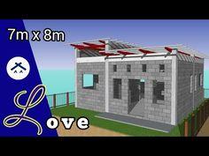 ARKIX3D - YouTube Simple Bungalow House Designs, Modern Small House Design, Simple House Design, Round House Plans, Modern House Floor Plans, Small House Plans, Box House Design, 2 Storey House Design, Small House Layout