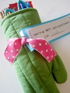 The packaging here is pretty and practical -- and it's something she can use outside of the classroom to boot. http://www.ivillage.com/best-diy-teacher-gifts/6-b-458205#535434