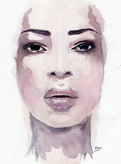 watercolor portrait by Hodaya Louis