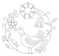 Bird Embroidery Pattern 1 pattern (from The Floss Box) ($1.25) (