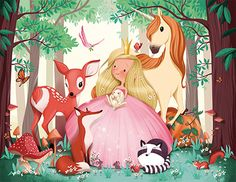 Il lustrati on©emmanuelle colin Illustration Mignonne, Art Et Illustration, Princess Illustration, Art Fantaisiste, Artist Art, Drawing For Kids, Painting For Kids, Art Mignon, Cute Monsters