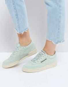 Reebok Classics Club C Pastel Sneakers In Mint Green