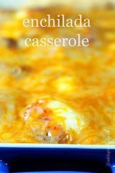 Enchilada Casserole Recipe | ©addapinch.com