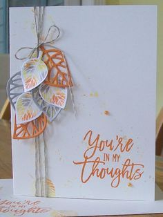 Thoughtful Branches card, baby wipe technique, www.crazystampinglady.blogspot.com, Maureen Rauchfuss