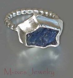 ❤ M-ixes Jewelry, from the Heart. ❤  M-inim Series, Iolite and Sterling Silver Ring