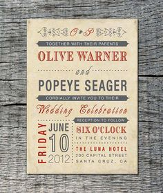 Vintage Wedding Invitation : Old Fashioned Style by differentdesigns10