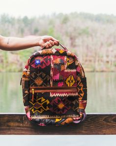 Kilim travel backpacks are different than any other backpack on the market. Sick of the black and greys? Add some color to your everyday outfit. #ResIpsa #travel #backpack #fashion #color