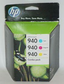 NEW Genuine HP OfficeJet 940 Combo Pack CN065FN Cyan Magenta Yellow