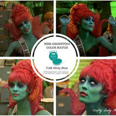 Miss Argentina from Beetlejuice body paint match