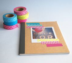 simple: polaroid and tape