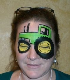 tractor face painting