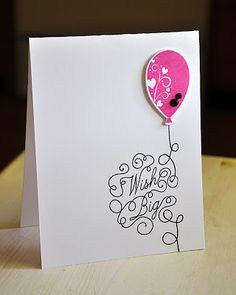 Papertrey Ink Balloon Bash and Scrolling Script stamp sets