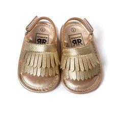 Rumbai Boks Bayi Bayi perempuan Sepatu Lembut Kulit Lembut Bawah Anti-slip Sepatu Musim Panas L07