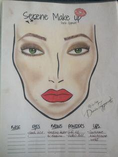 Face chart, Classic smokey :)