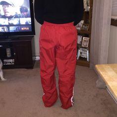 Adidas Pants - Red adidas swishy pants