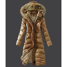 2016 Moncler Down Coat Women Hooded Windproof Light Tan