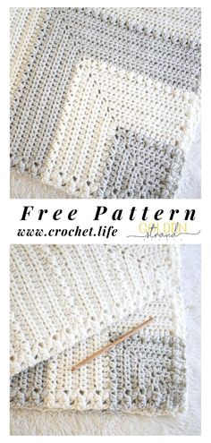 Free Baby Blanket Pattern 2019 Mitered crochet blanket pattern perfect for new baby. Free crochet blanket pattern by GoldenStrandStudi / crochet.life Flutterby Baby Blanket The post Free Baby Blanket Pattern 2019 appeared first on Yarn ideas. Easy Knit Blanket, Crochet Baby Blanket Free Pattern, Easy Crochet Patterns, Baby Patterns, Knitting Patterns, Easy Crochet Baby Blankets, Crochet Blanket Stitches, Crocheted Baby Blankets, Crochet Baby Blanket Patterns