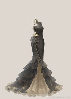 Best 11 Supper Tutorial and Ideas – SkillOfKing. Dress Drawing, Drawing Clothes, Pretty Dresses, Beautiful Dresses, Fantasy Gowns, Anime Dress, Dress Sketches, Fashion Design Sketches, Anime Outfits