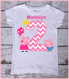 This listing is for the super cute Abby personalized tee shirt. Perfect for your little Abby fan.  Please leave the following information in