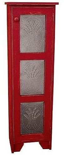 3 Panel Punch-Tin Red Cupboard by Sturbridge Yankee Workshop - this would look AMAZING in my kitchen