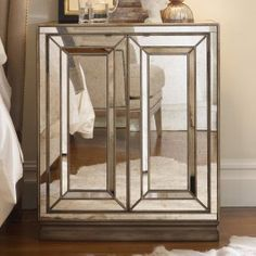 Mirrored Nightstands on Hayneedle - Mirrored Bedside Tables