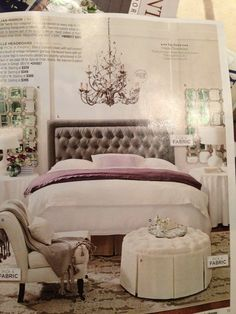 White/gray/purple bedroom