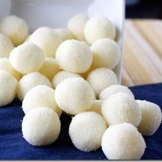 White chocolate lemon truffles Yes, please =)