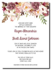 Beautiful Wedding Announcements 2 – One Sided Colorful Wedding Invitations, Affordable Wedding Invitations, Floral Wedding Invitations, Wedding Colors, Wedding Flowers, Son Of David, Morning Pictures, Wedding Announcements, One Sided
