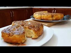 ΤΑ ΠΙΟ ΑΦΡΑΤΑ ΡΟΛΑ ΜΕ ΜΉΛΑ ΚΑΙ ΚΑΡΥΔΙΑ!!! - YouTube Bread Cake, Cinnamon Apples, Cake Recipes, French Toast, Rolls, Sweets, Cakes, Breakfast, Christmas