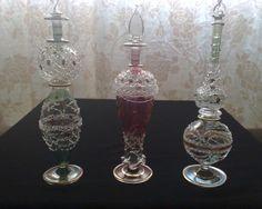 flacons à parfum égyptiens en verre