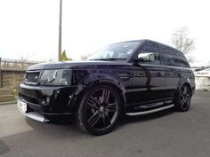2006 Range Rover Sport 2.7 TDV6 HSE Autobiography upgrade with Concept wheels. 4x4. Metallic Black with black memory leather heated seats.