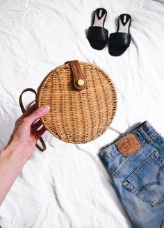 ZARA round rattan bag