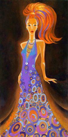 "Original Painting ""Mediterranean Glamour: Barcelona"" by Alina Eydel"