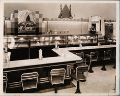 vintage diner....reminds me of The Gables in Springfield, Ohio. Dad was there most every morning.
