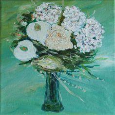 Wedding bouquet painting, custom wedding bouquet, Custom Bridal Bouquet Original art, Gift Anniversary Personalized perfect bridal gift